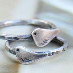 Tiny rustic bird ring by http://etsy.com/shop/ottobone
