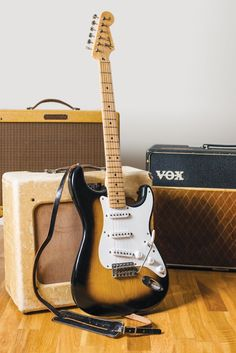 This barely-played Stratocaster has the unblemished appearance of a modern guitar. However, as Huw Price finds, it plays and sounds like a vintage dream… Fender Stratocaster, Fender Guitars, Vintage Electric Guitars, Vintage Guitars, Guitar Rig, Cool Guitar, Fender Bender, Guitar Magazine, Vintage Bench