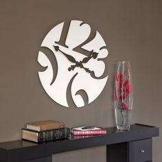 Ultra Modern and Attractive White Wall clock Design Cool Clocks, Unique Wall Clocks, Modern Clock, Modern Wall, White Wall Clocks, Cad Cam, Wall Clock Design, Clock Wall, Metal Clock