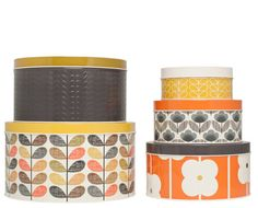Orla Kiely Set of 5 Cake Tins available at Browsers Furniture Co., Limerick, Ireland and www.browsers.ie.