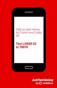 Matt Barton, Sophie Wright and I will be running lots to raise money and awareness for Crohn's and Colitis UK, why are we doing this you might ask..... the main reason is show our support to Lisa Barton who has been through so much in the past 12 months, she has been an inspiration to us all.  if you can sponsor us that would be ace, any amount would be much appreciated you can do so by texting LISE85 followed by £1,£2, £3,£5,£10 to 70070  much love from us all and thank you for your support