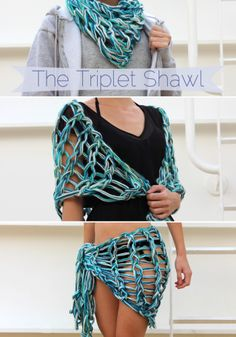 The Triplet Shawl: An Arm Knitting Pattern by Laura || Creating Laura | Project | Knitting / Scarves, Shawls, & Cowls | Kollabora
