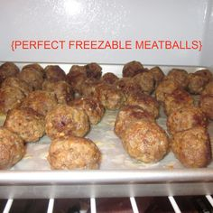 The Perfect Freezable Meatball- add to any sauce, bbq, teriyaki, marinara and cook from frozen state.  Cooks in 10 minutes from the freezer!