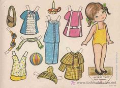 RECORTABLES BABY EDITORIAL ROMA, SERIE MUÑECAS Nº2 (Coleccionismo - Recortables - Muñecas) Dora, Paper Dolls Printable, Vintage Paper Dolls, Retro Toys, Sweet Memories, Art Pages, Vintage Cards, Doll Patterns, Doll Toys
