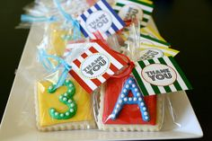 Number letter Cookie favors  ABC 123 Printable Party Collection  Favor Tags  by tomkatstudio, $6.50
