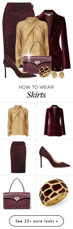 """Be In Burgundy"" by shamrockclover on Polyvore featuring Tom Ford, STELLA McCARTNEY, Temperley London, Valentino, Jimmy Choo, Carousel Jewels and polyvoreeditorial"