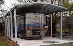 Metal Rv Carports, Metal Carport Kits, Aluminum Carport, Diy Carport, Carport Plans, Modern Carport, Shed Building Plans, Diy Shed Plans, Storage Shed Plans