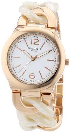 Mike Ellis Damen-Armbanduhr Analog Quarz Alloy L3078ARM - http://uhr.haus/mike-ellis-new-york/mike-ellis-damen-armbanduhr-analog-quarz-alloy