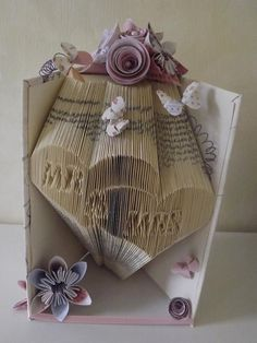 Mr and Mrs book folding pattern