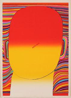 粟津潔『ANTI-WAR AND LIBERATION』1971年 シルクスクリーン 109.3×79.3 金沢21世紀美術館蔵 © AWAZU Yaeko