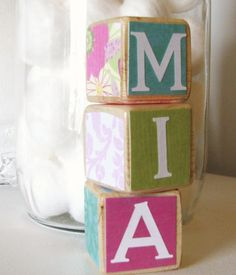 cute baby room idea -use boxes and decorate
