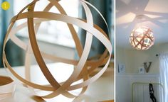 10 #DIY wooden lampshade tutorials