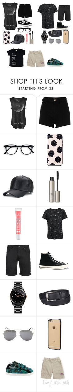 """""""Birthday outing"""" by torilee-03 ❤ liked on Polyvore featuring River Island, Kate Spade, Ilia, Boohoo, SELECTED, Converse, Rado, Columbia, Yves Saint Laurent and Incase"""