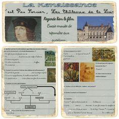 La fiche de préparation de la séquence :séquence_renaissance La vidéo C'est Pas Sorcier sur les Châteaux de La Loire : Les élèves compléteront ensuite ce questionnaire : questionsCPS_Renaissance L...