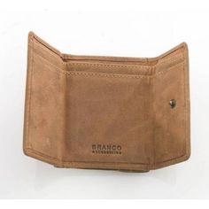 5f12f661dcd56 Mit Riegelverschluss - Mini Geldbörse aus braunem Leder