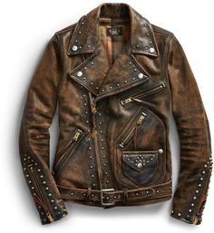 Shop our luxury Studded Leather Moto Jacket at the official Ralph Lauren UK store online for the best in design, style & quality. Studded Leather, Leather Men, Custom Leather Jackets, Punk Jackets, Moto Jacket, Jacket Men, Leather Accessories, Custom Clothes, Ralph Lauren