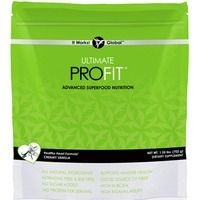 "Ultimate ProFIT™     Whether your goal is weight loss, athletic performance, or a simple way to eat healthy, Ultimate ProFIT Superfood Nutrition Mix offers a superior blend of proteins, mood-elevating ""superfoods,"" and fiber that is proven to produce ultimate results*. Use it in shakes or smoothies, bake with it, or even mix it with your food!     Try it in rich chocolate or creamy vanilla today, and start seeing results like these:   • Experience quicker post-workout recovery  • Build lean muscle mass with fewer calories  • Maintain healthy cholesterol levels  • Get feel-good, mood-elevating energy with maca and cacao powder  • Promote healthy digestion with seven different soluble and insoluble fibers"