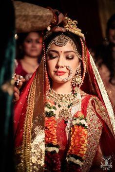 bridal portrait, bengali bride, bridal jewellery