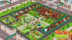 Food Street Game, Clash Of Clans, Restaurant Design, Beautiful