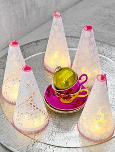 Kanten lichtjes, leuk voor de feestdagen