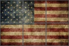 American Flag decorative tiles Tile Mural | Pacifica Tile Art Studio
