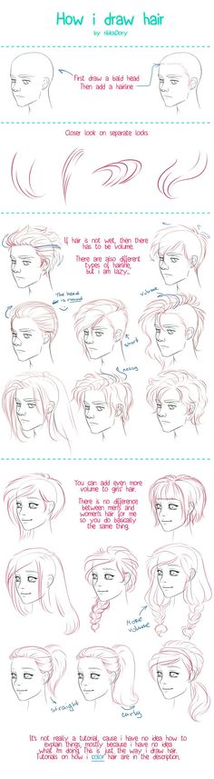 How I Draw Hair by =ribkaDory on deviantART (scheduled via http://www.tailwindapp.com?utm_source=pinterest&utm_medium=twpin&utm_content=post1340065&utm_campaign=scheduler_attribution)