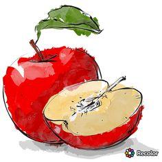Art Watercolor Fruit, Pen And Watercolor, Watercolor Illustration, Watercolour Painting, Watercolor Flowers, Watercolors, Basic Painting, Fruit Painting, Watercolor Beginner