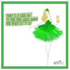 """Happy St. Patrick´s day!! #fashion #fashcom #illustration #fashioncomic #comic #dress #shoes #heels #fashionart #fashionillustration #style…"""