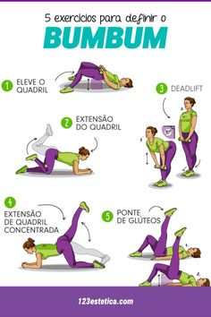 Exerc Cios Para Definir O Bumbum Bumbum Definir Exerc Übungen Para Definir O Bumbum Bumbum Definir Übung - Besondere Tag Ideen Physical Fitness, Body Fitness, Fitness Tips, Health Fitness, Fitness Workouts, Training Center, Diet Motivation, Butt Workout, Personal Trainer
