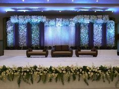 Best Wedding Stage Decoration Ideas for Indian Wedding Best Wedding Stage Decoration Ideas for Indian Wedding Best Wedding Stage Decoration Ideas for Indian Wedding. wedding stage Best Wedding Stage Decoration Ideas for Indian Wedding Reception Stage Decor, Wedding Stage Design, Wedding Reception Backdrop, Garland Wedding, Wedding Receptions, Royal Blue Wedding Decorations, Decor Wedding, Indian Wedding Stage, The Knot
