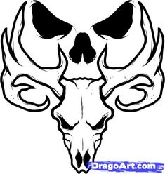 Pin How To Draw A Deer Skull Tattoo Images picture to pinterest. Description from tattoopins.com. I searched for this on bing.com/images