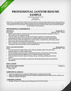 samples of resume for job