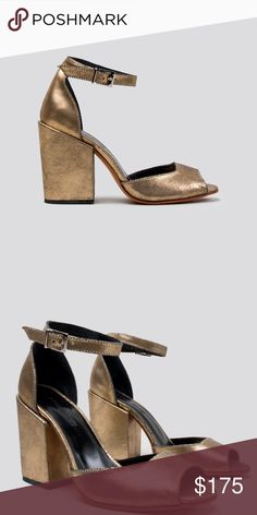 95cb8777e35f Rachel Comey Coppa Old Gold Pumps Shoes Love these shoes by Rachel Comey.  Chunky heeled · Ankle Strap ...