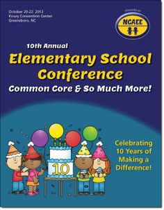 Awesome conference for elementary educators! Download the Elementary School Conference program from this page to see what they have to offer. Great sessions on Common Core, Essential Standards, Technology in Education, and more!