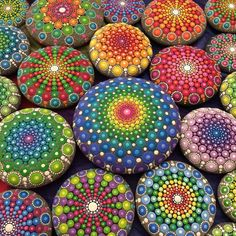 Australian Artist Covers Stones in Vibrantly Colored Dots to Create Beautiful Mandala Stones