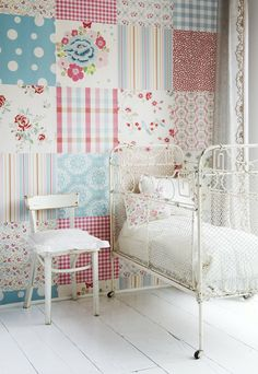 Room Seven Girls Patchwork wallpaper