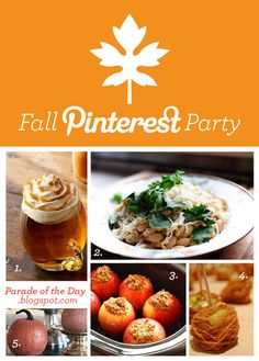 Fall Pinterest Party. Throw a party using your pinterest!