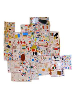"""Mia Christopher, Quilted test strips from January-April 2010. About 29"""" x 27"""""""
