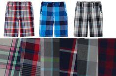 Arizona Boys Plaid Chino Shorts Cotton Reg Husky sizes 8 10 12 14 16 18  20 NEW 10.99 http://www.ebay.com/itm/Arizona-Boys-Plaid-Chino-Shorts-Cotton-Reg-Husky-sizes-8-10-12-14-16-18-20-NEW-/262701457782?ssPageName=STRK:MESE:IT