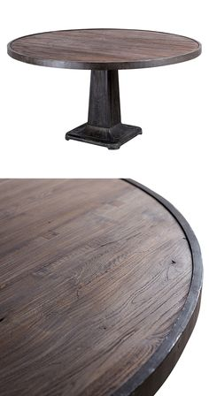 Every meal will feel like a new adventure when gathered round this handsome, vintage-inspired dining table. Made from reclaimed teak wood and cast iron, this Swashbuckler Table boasts a round smoky tea...  Find the Swashbuckler Table, as seen in the Dining Tables Collection at http://dotandbo.com/category/furniture/tables/dining-tables?utm_source=pinterest&utm_medium=organic&db_sku=118269