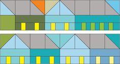Pretty Little Quilts: Hillside Houses QAL Blocks 8 & 9