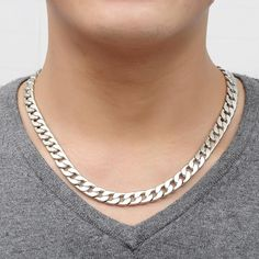 Alloy Silver Round Chain Necklace