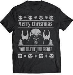 b32a212df Funny Merry Christmas You Filthy Jedi Ugly Christmas Sweater Darth Vader  Tshirt Gift T-shirt Tee Shirt Christmas Star Wars Men Storm Trooper