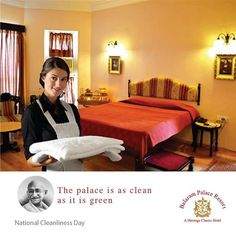 The beauty of the palace doesn't lie in its greenery itself, but its cleanliness too. #NationalCleanlinessDay