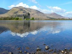 Kilchurn Castle - the stronghold of the Campbell Clan. Most probably the Castle was built during the McGregor Clan reign - the ruling clan who were usurped by the Campbells. For 400 years the Campbells lived there and later it became the place of government during the Jacobites,  Abandoned in the latter part of the 18th century. it suffered a burning down, supposedly after lighting struck it, though it is rumored that a vengeful McGregor was responsible for the fire.