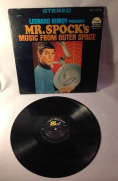 MR. SPOCK'S MUSIC FROM OUTER SPACE RECORD LP LEONARD NIMOY STAR TREK 1969 RARE