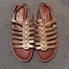 Gold gladiator sandals It's great condition! Make me an offer! American Eagle Outfitters Shoes Sandals
