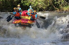 Whitewater Rafting on the Jacaré Pepira  river, Brotas, Brazil. Team Travessas training