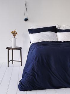 Bamboo Bondi Duvet Cover Set - Blue Nights