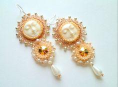 Sweet earrings via Ksenia Burzalova via Beads Magic  blog